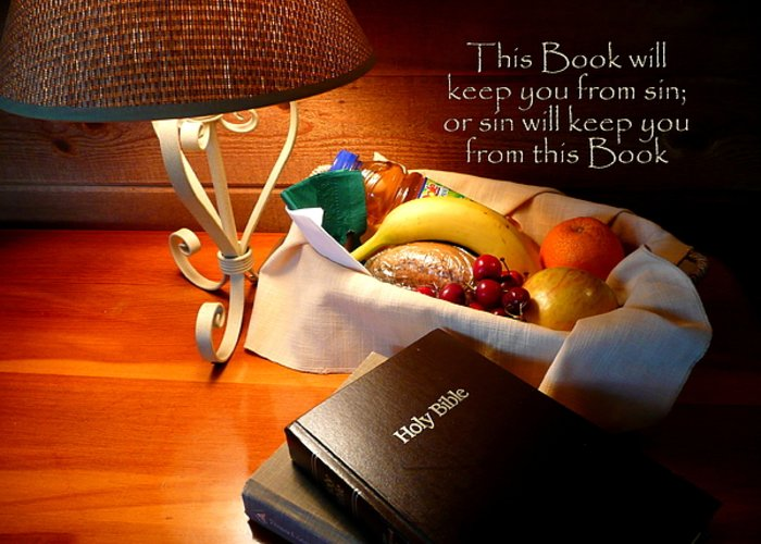 Cindy Greeting Card featuring the photograph Word Of God by Cindy Wright