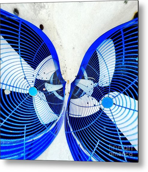 Fan Metal Print featuring the digital art Kissing Fans by Amy Cicconi