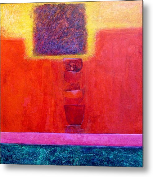 Abstract Metal Print featuring the painting Stacked Cups by Dale Witherow