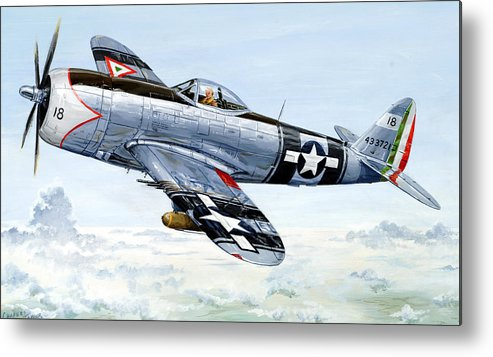 P-47 Metal Print featuring the painting Aztec Eagle by Charles Taylor