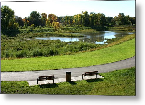 Landscape Metal Print featuring the photograph Greenway by Steve Augustin