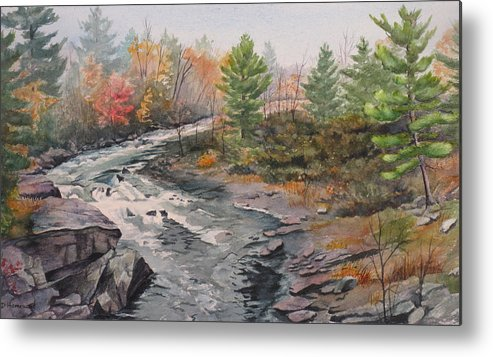 Burleigh Metal Print featuring the painting Old Burleigh Stream by Debbie Homewood