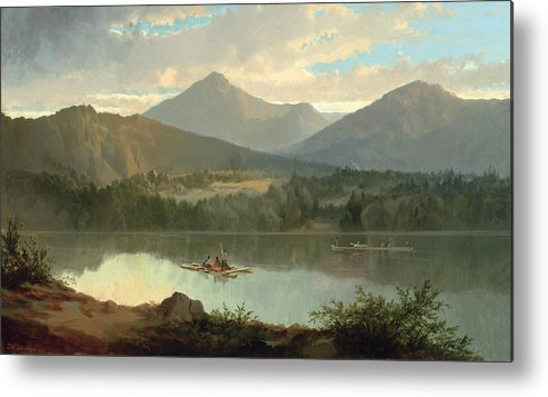 Western Metal Print featuring the painting Western Landscape by John Mix Stanley