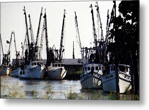 Landscape Metal Print featuring the photograph At Rest Watercolor by Michael Morrison