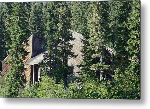 Lodge Metal Print featuring the photograph Aubrey Watzek Lodge by Angi Parks