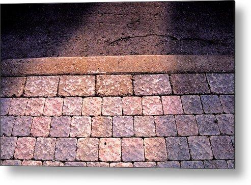 Sidewalk Metal Print featuring the photograph Brick Sidewalk 3 Wc by Lyle Crump