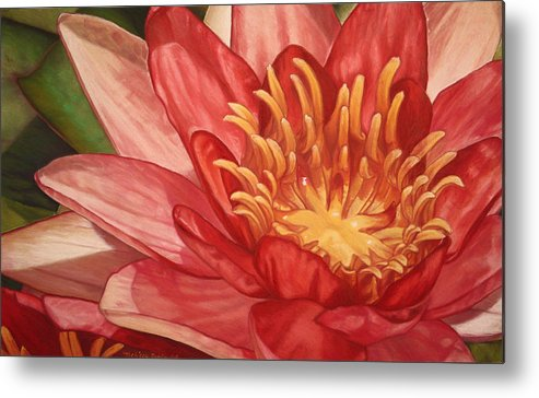 Botanical Metal Print featuring the painting Glorious by Melissa Tobia