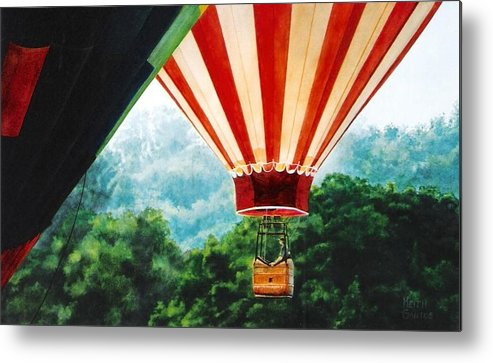 Balloons Metal Print featuring the painting Rising Mist by Keith Gantos