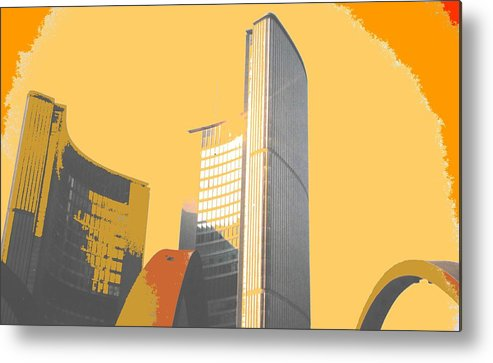 Toronto Metal Print featuring the photograph Toronto City Hall Arches by Ian MacDonald