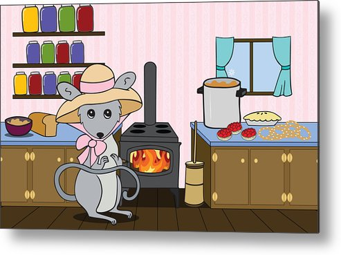 Kitchen Metal Print featuring the digital art Tatty's Kitchen by Christy Beckwith