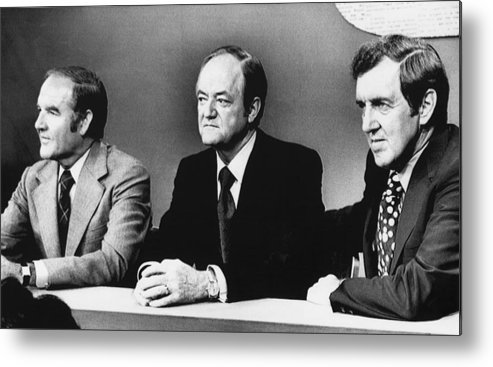 1970s Metal Print featuring the photograph Us Elections. From Left Us Senator by Everett