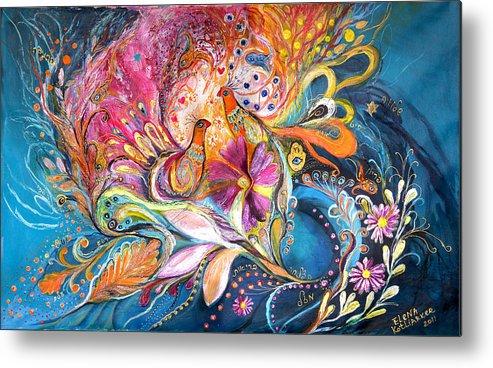 Original Metal Print featuring the painting The Flowers Of Sea by Elena Kotliarker