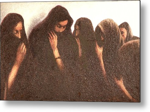 Figures Metal Print featuring the painting Arab Women by James LeGros