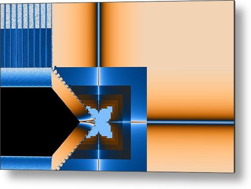 Digital Metal Print featuring the digital art Copper Blue by Thomas Smith