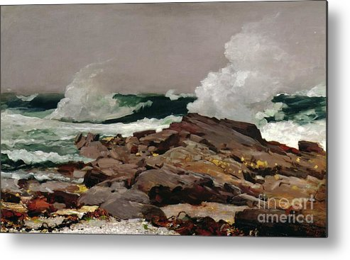 Winslow Homer Metal Print featuring the painting Eastern Point by Winslow Homer