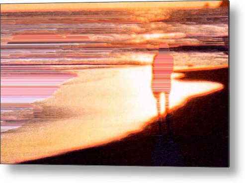 Landscape Metal Print featuring the photograph Into The Sunset 5 by Lyle Crump