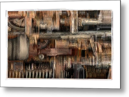 Still Life Metal Print featuring the digital art Lathe by Nuff