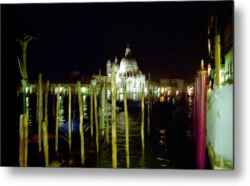 Venice Metal Print featuring the photograph Maria Della Salute In Venice At Night by Michael Henderson