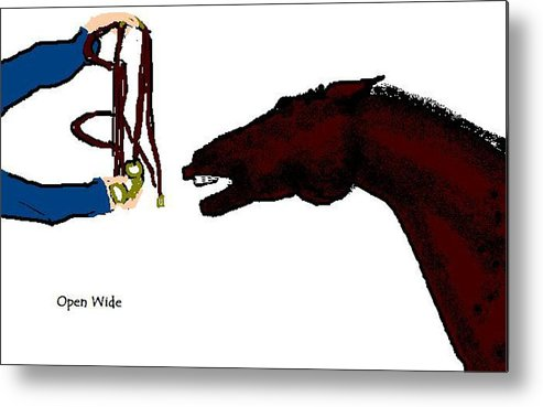 Horse Metal Print featuring the digital art Open Wide by Carole Boyd