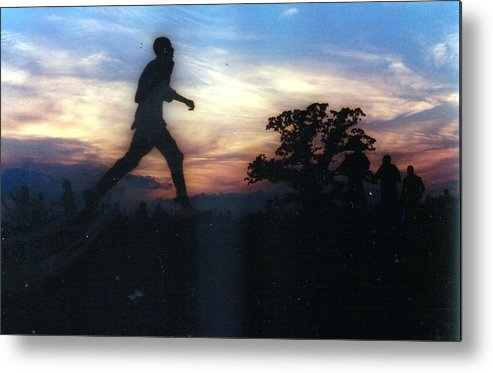 Sunset Metal Print featuring the photograph Race To Sunset by Michael Facey
