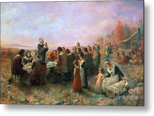 1621 Metal Print featuring the photograph The First Thanksgiving by Granger