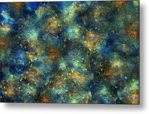 Star Metal Print featuring the digital art Galaxies by Betsy Knapp