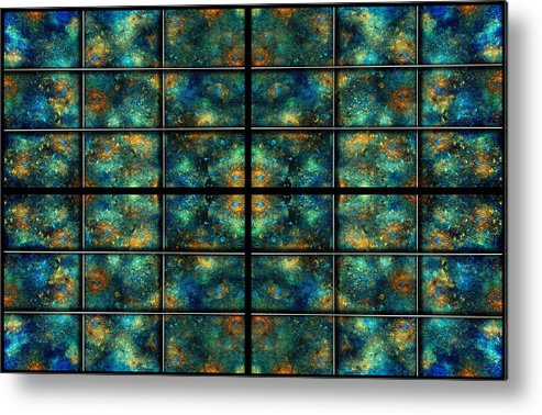 Star Metal Print featuring the digital art Limitless Night Sky by Betsy Knapp