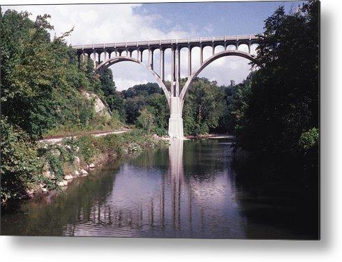 Bridge Metal Print featuring the photograph 091208-2 by Mike Davis