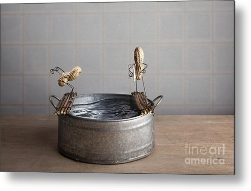 Pool Metal Print featuring the photograph Swimming Pool by Nailia Schwarz