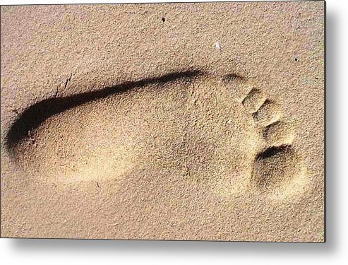 Photography Metal Print featuring the photograph Foot by Katina Cote