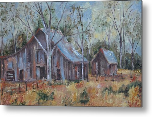 Barns Metal Print featuring the painting If They Could Speak by Ginger Concepcion