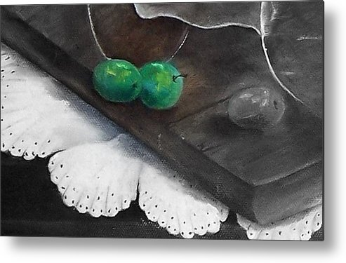 Lace Metal Print featuring the painting Just A Hint Of Color by Penny Everhart