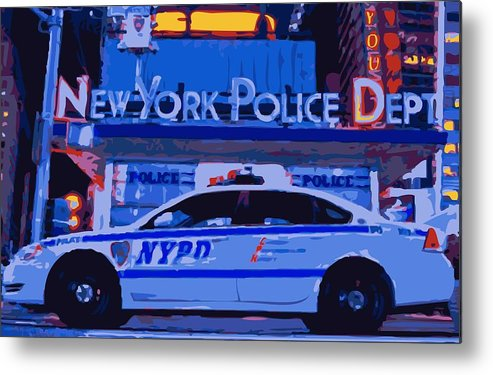 Nypd Metal Print featuring the photograph Nypd Color 16 by Scott Kelley