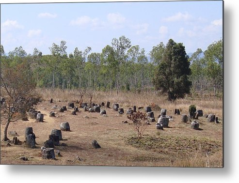 Plain Of Jars Metal Print featuring the photograph Plain Of Jars No.2 by Mike Holloway