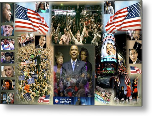 Barack Metal Print featuring the digital art Respectfully Yours..... Mr. President by Terry Wallace