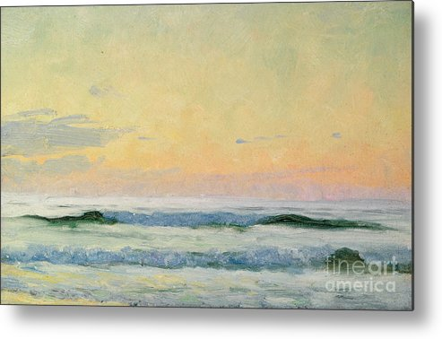 Seascape Metal Print featuring the painting Sea Study by AS Stokes
