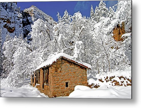 Sedona Metal Print featuring the photograph West Fork Winter by Wayne Johnson