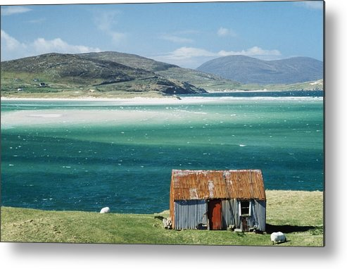 Photographic Metal Print featuring the photograph Hut On West Coast Of Isle by Rob Penn