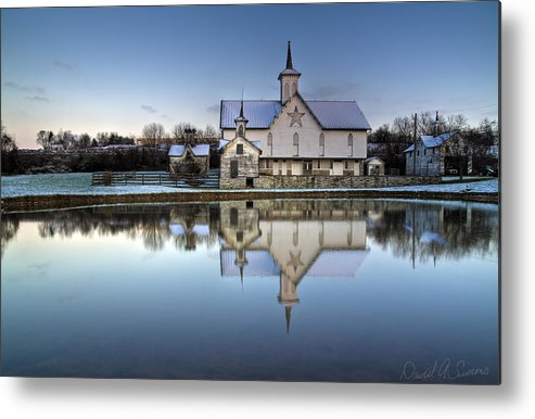 Star Barn Metal Print featuring the photograph Star Barn by David Simons