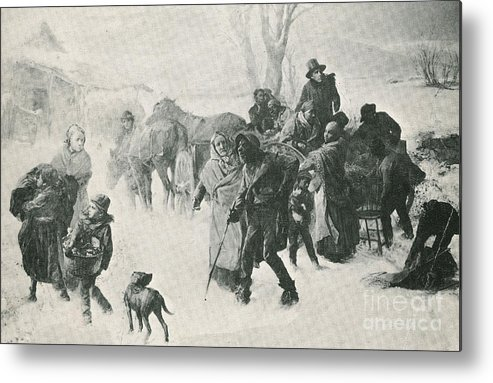 America Metal Print featuring the photograph The Underground Railroad by Photo Researchers