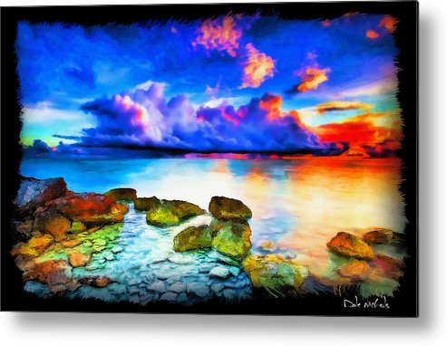 Seascape Metal Print featuring the painting Hidden Treasure by Dale Nichols