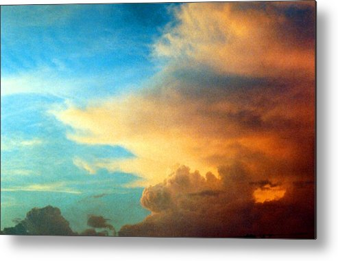Cloud Metal Print featuring the photograph 072006-14e by Mike Davis