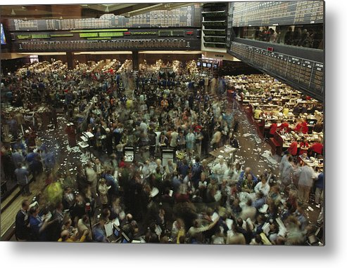 North America Metal Print featuring the photograph An Elevated View Of Traders by Michael S. Lewis