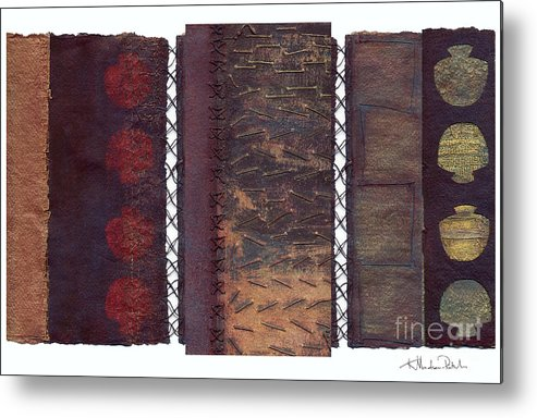 3panel Metal Print featuring the painting Three Panel Transitional Page Format by Kerryn Madsen- Pietsch