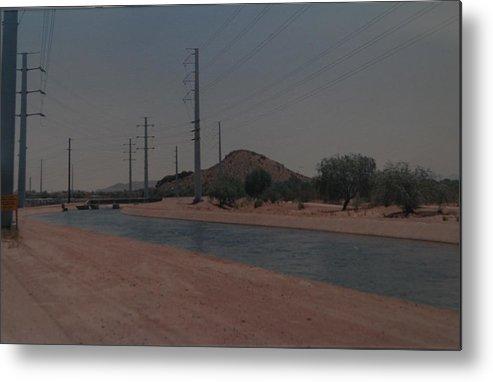 Arizona Metal Print featuring the photograph Arizona Waterway by Rob Hans