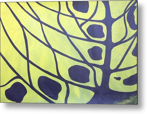 Abstract Tree Butterfly Tiger Swallowtail Landscape Metal Print featuring the painting Butterfly Tree 3 by Sally Van Driest