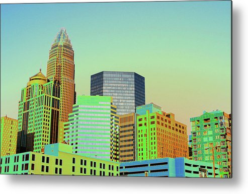 Charlotte Metal Print featuring the photograph City Of Colors by Karol Livote