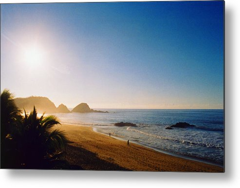 Landscape Metal Print featuring the photograph Early Morning In Zipolite 2 by Lyle Crump