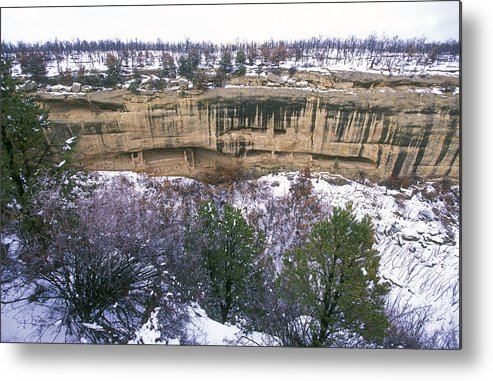 Mesa Verde National Park Metal Print featuring the photograph Fire Temple And New Fire House Ruins by Rich Reid