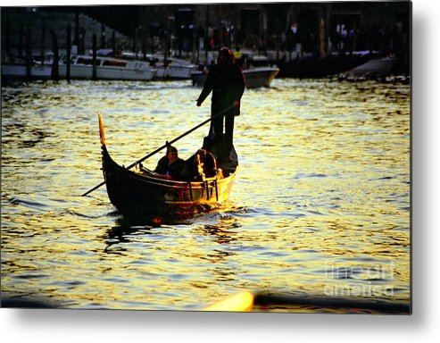 Venice Metal Print featuring the photograph Gondola Ride At Sunset In Venice by Michael Henderson